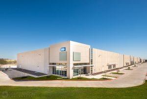 exterior corner of Springbrook industrial building in Pflugerville, Texas