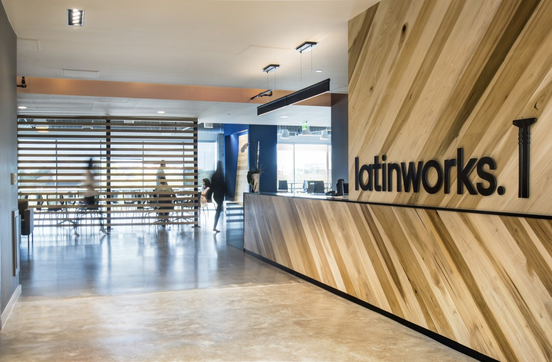 a photo of the front office of Latinworks