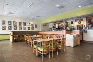 an interior photo of Einstein Bros bagels in Austin TX