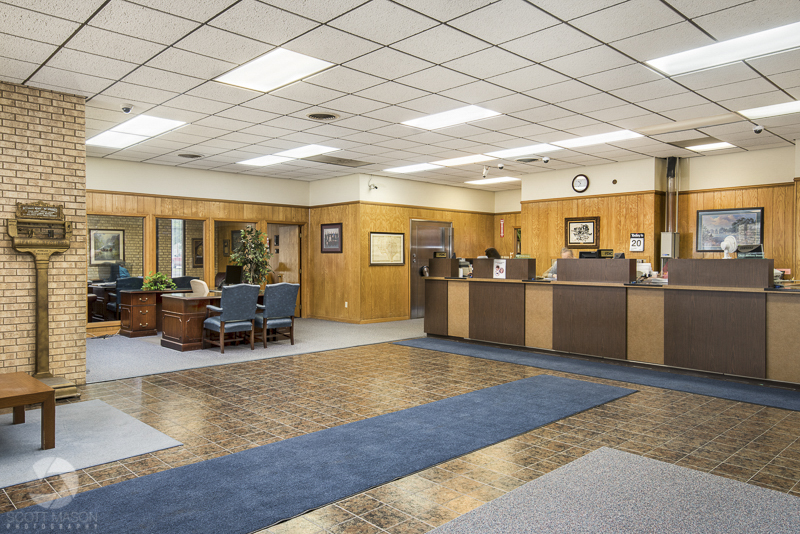 an interior photograph of Union State Bank in Florence Texas