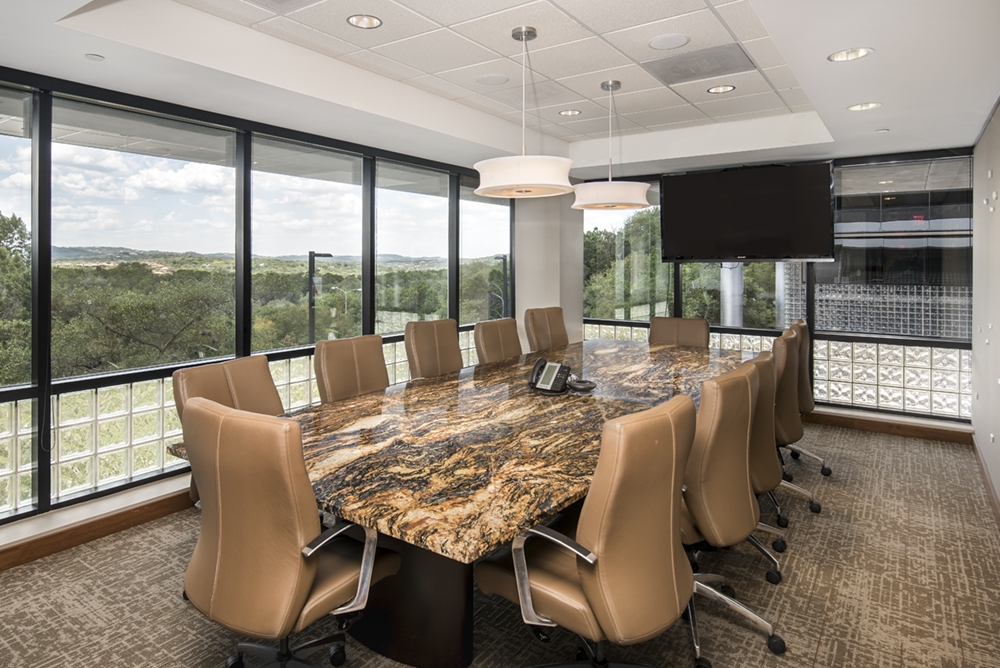 an architectural photo of Brigham Resource's conference room