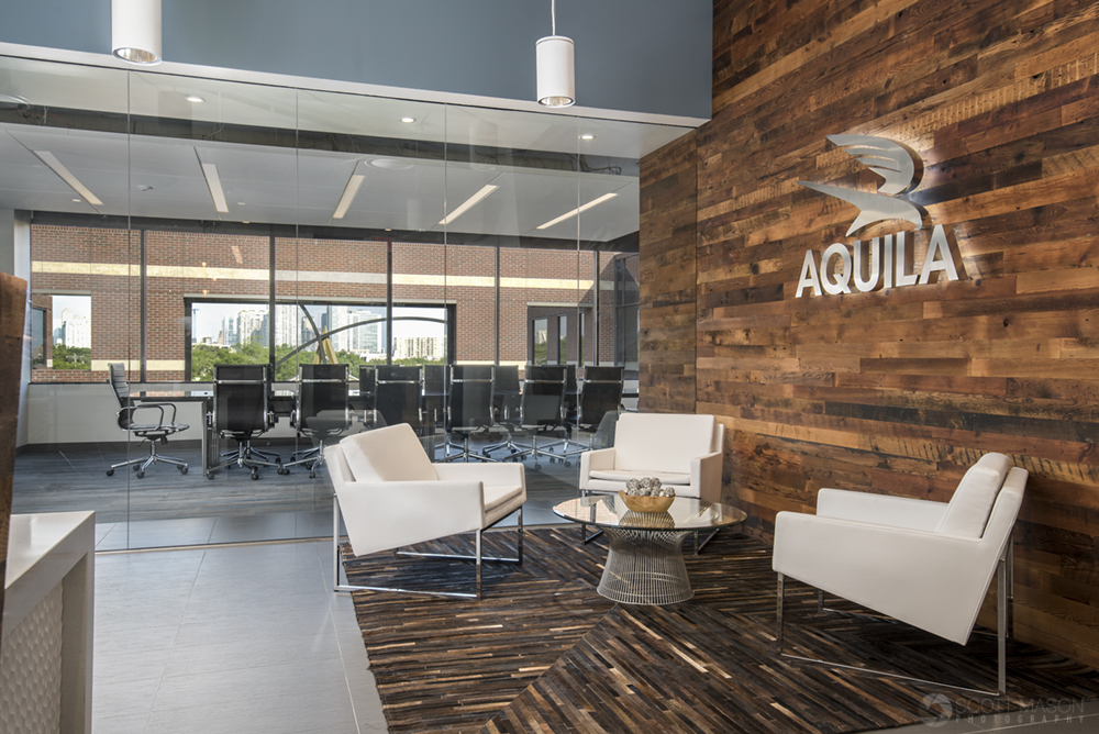 a photograph of Aquila Commercial's office lobby