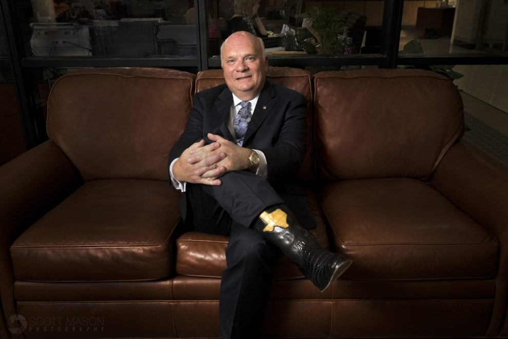 a corporate portrait of Victor Pierson, CEO Moody Bank