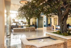 interior photo of the Fairmont Austin lobby