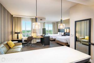 Double room at the Residence Inn Houston at NRG Park