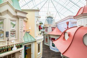 an elevated view of Creme de la Creme daycare's interior