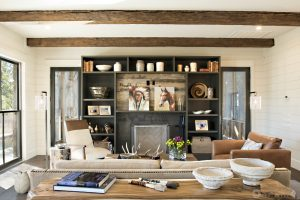an interior design photography image of a ranch-style living room taken in Austin, TX
