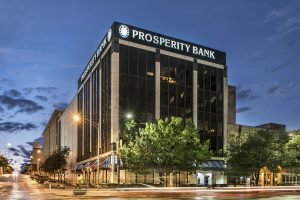 a photo of the Frost Bank building on Congress ave in Austin