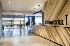 the entrance to the LatinWorks office in Austin