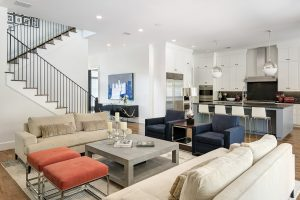 a photo of a living room in a modern house