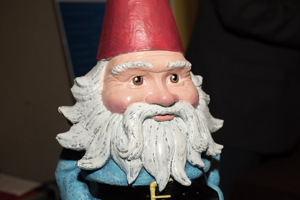 a statuette of the roaming gnome