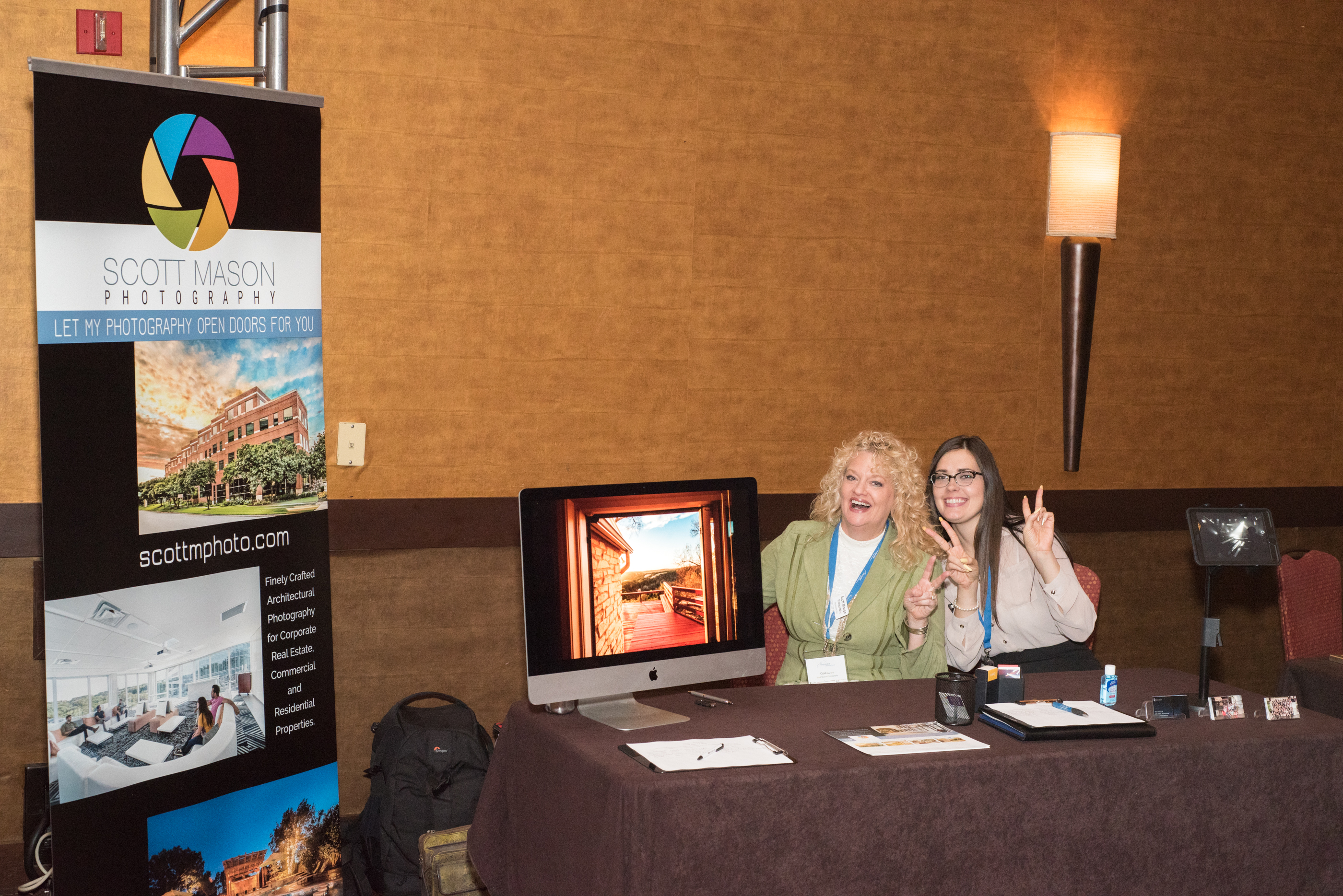the photo booth for Scott Mason Photography at the Austin Market Expo 2015