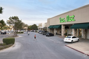 an elevated exterior elevated photo of Stein Mart in West Woods Shopping Center Austin TX