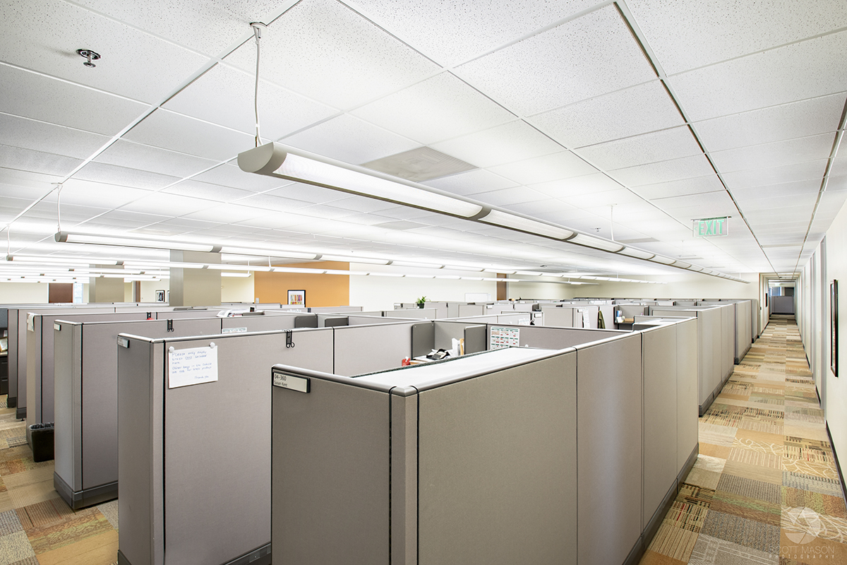 office cubicles at Research Plaza office in Austin, TX