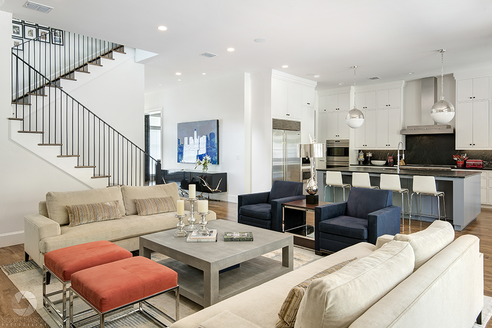 an interior design photo of the main/living room of a contemporary house