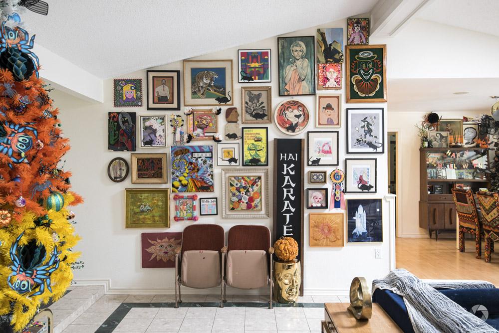 a gallery wall in Jennifer Perkins' house