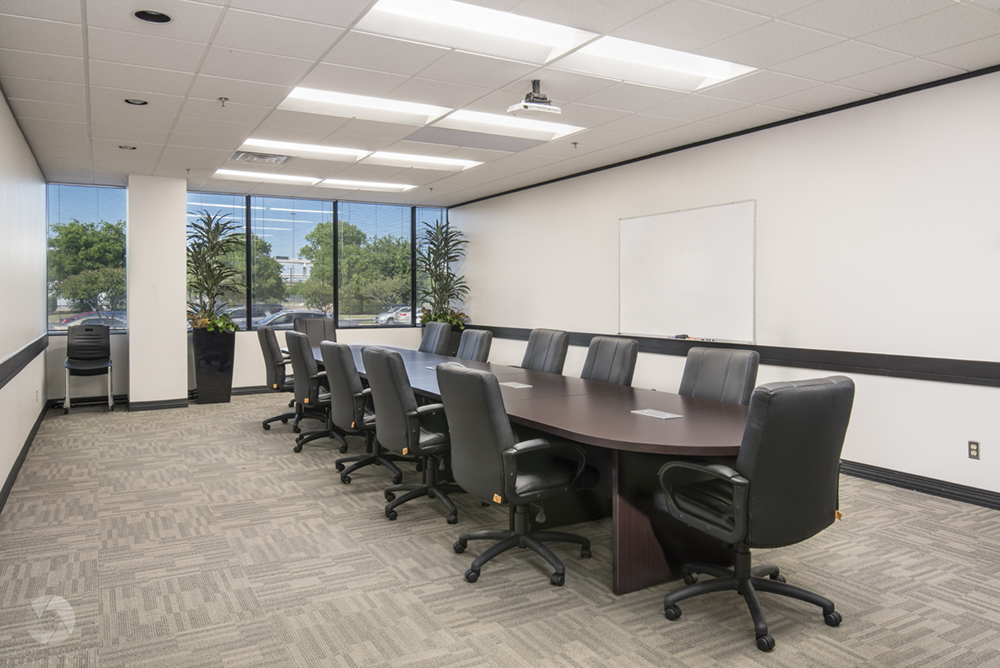 an interior photo of a conference room for a commercial building