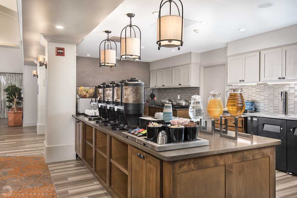 a professional photo of the breakfast area of Homewood Suites hotel in Austin