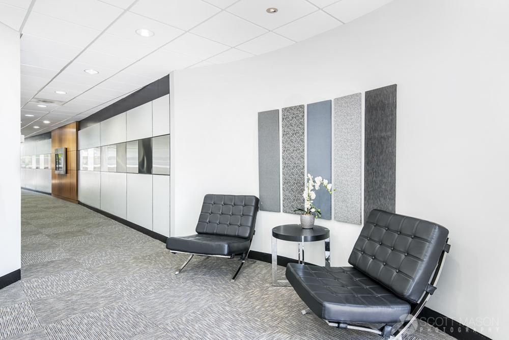 an interior photo of Greystone II's office lobby and hallway