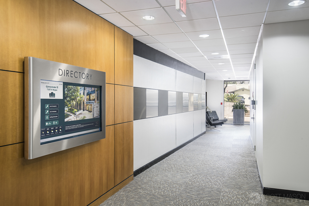 a hallway photo in an office building