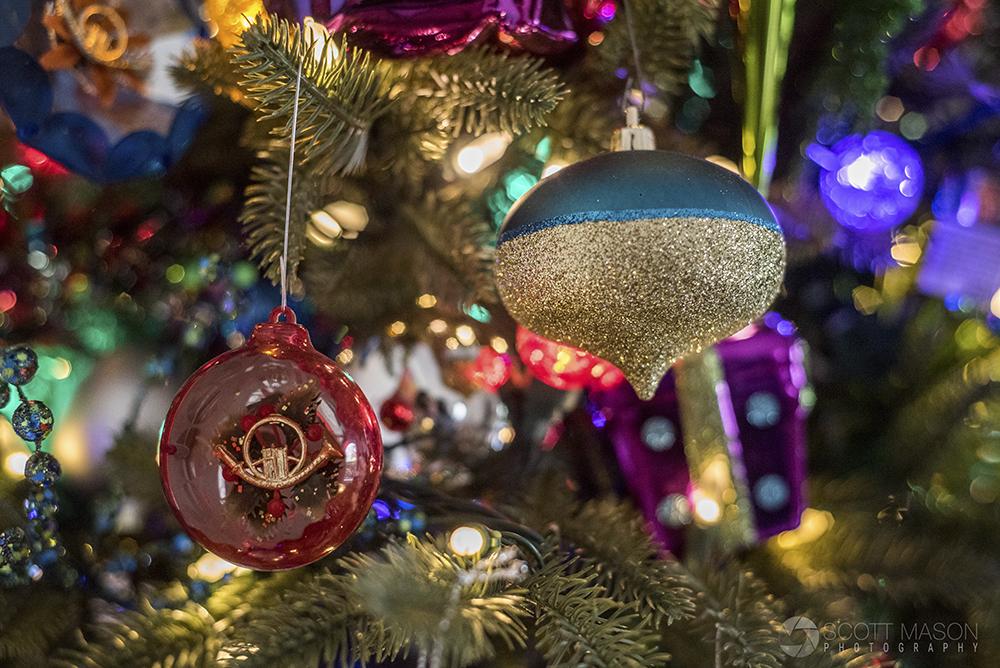 a dog ornaments on a christmas tree
