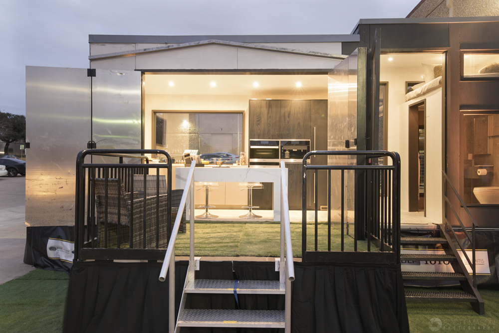 a front-facing exterior photo of the Neolith Tiny House