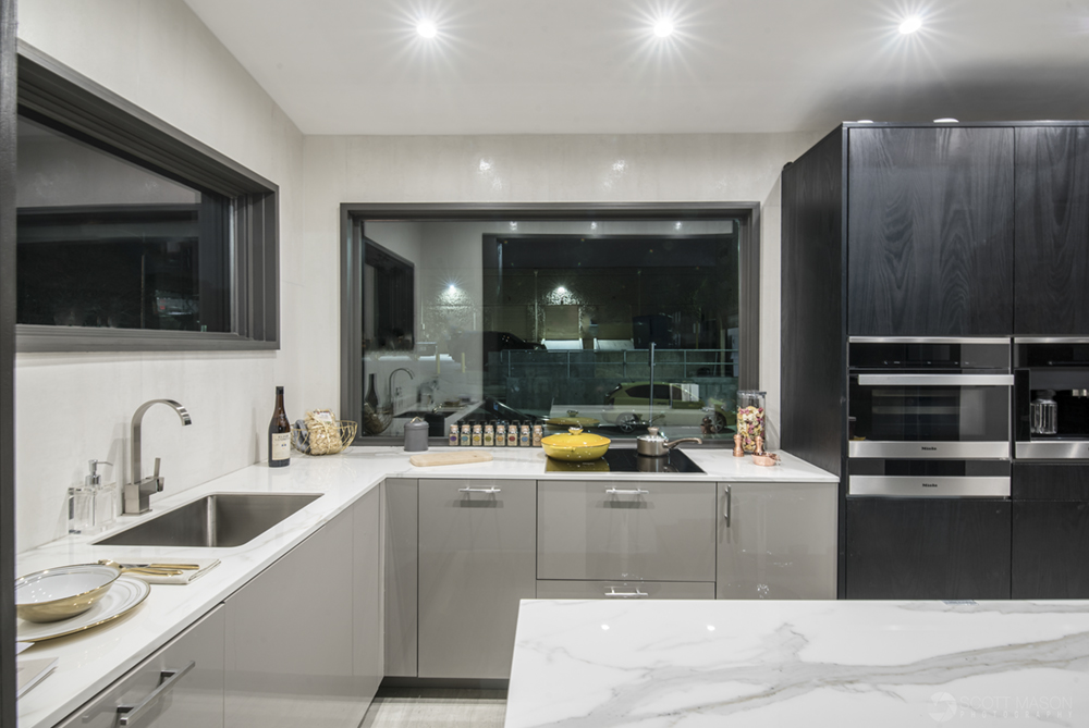 an interior photo of the Neolith Tiny House kitchen