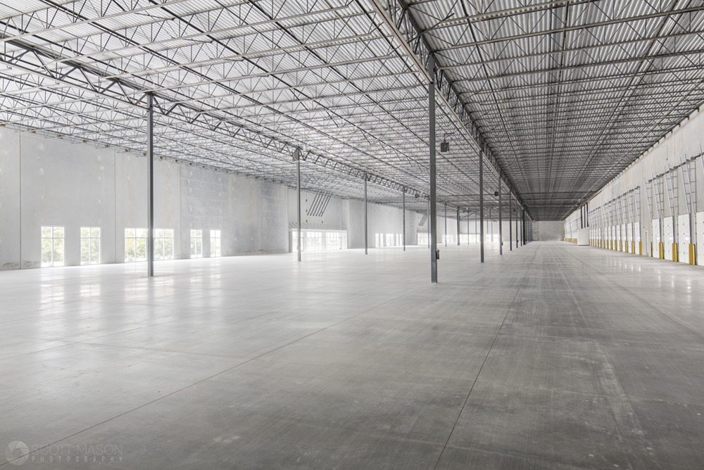 an interior photo ofan industrial building in Austin, Commerce Center South