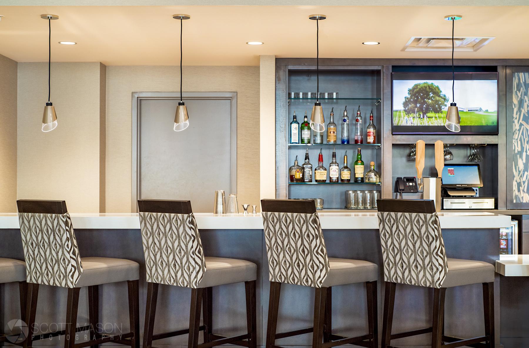 an empty hotel bar
