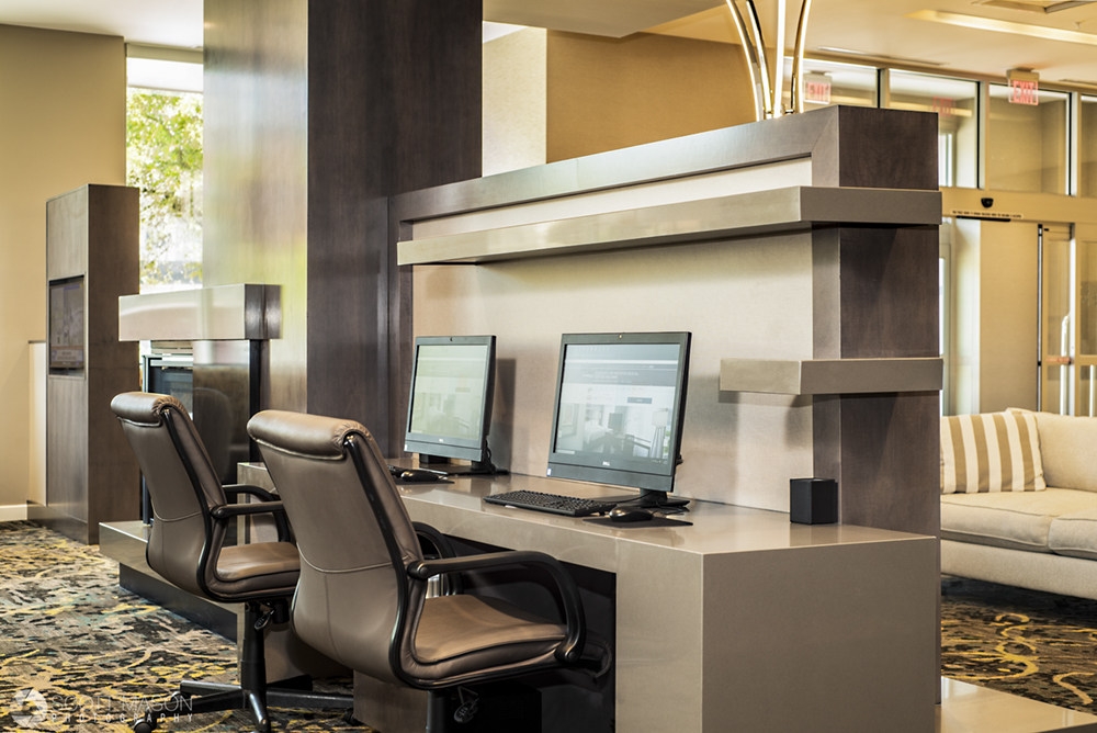 computers in the business center of a residence inn hotel