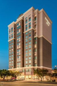 Exterior photo of the Residence Inn Houston at NRG Park