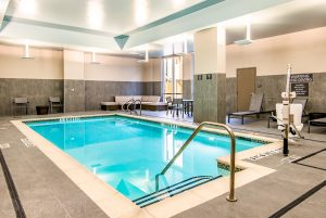 Indoor pool at the Residence Inn Houston at NRG Park