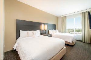 Double beds at the Residence Inn Houston at NRG Park